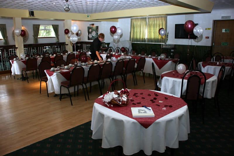 Function room wedding reception